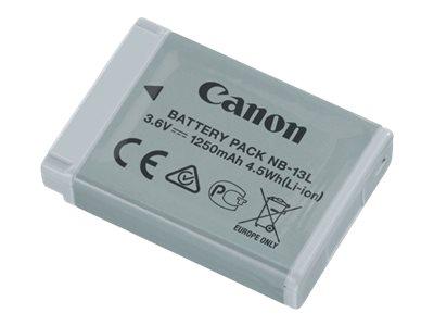 Canon Battery Pack NB-13L – Batteria fotocamera Li-Ion 1250 mAh – per PowerShot G5 X, G7 X, G9 X, G9 X Mark II, SX620 HS, SX720 HS [ TT225471 ]