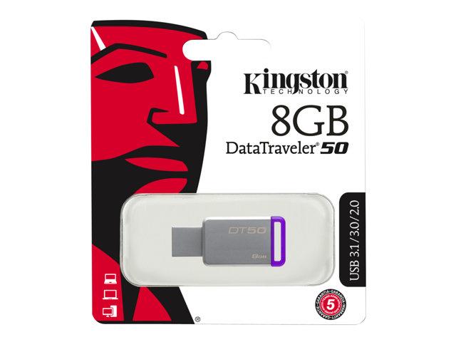 8GB USB 3.0 DataTraveler 50 Metal/Purple [ TT153112 ]