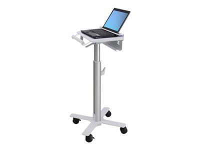 Ergotron StyleView Laptop Cart, SV10 – Carrello per portatile – medico – metallo – bianco, alluminio – dimensione schermo: fino a 17″ [ TT186554 ]