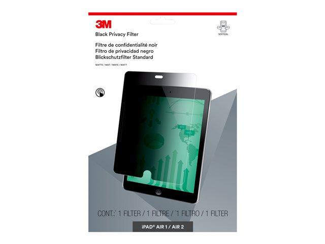 3M Filtro Privacy per Apple iPad Air 1/2/Pro 9,7 – modalità verticale – Filtro privacy per schermo (orizzontale) – 9.7″ – nero – per Apple 9.7-inch iPad Pro; iPad Air; iPad Air 2 [ TT798300 ]