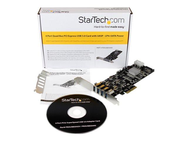 4Port PCIe USB 3.0 Controller Card w/ 4 Channels [ TT733015 ]