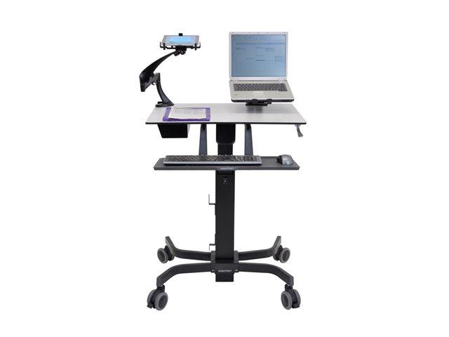 Ergotron TeachWell Mobile Digital Workspace – Carrello per notebook / tastiera / mouse – acciaio – grigio grafite [ TT47469 ]
