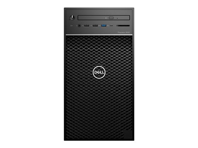 Dell Precision 3630 Tower – MT – 1 x Xeon E-2174G / 3.8 GHz – RAM 8 GB – SSD 256 GB – masterizzatore DVD – Quadro P620 – GigE – Win 10 Pro Edizione a 64 bit – vPro -monitor: nessuno – BTS [ TT716068 ]
