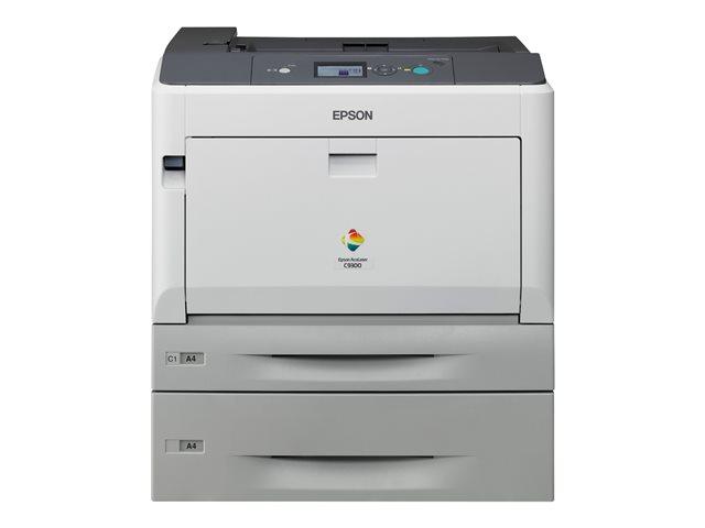AcuLaser C9300DTN, stampante laser A3 a colori, 30ppm, ris. Stampa 4800dpi RIT, uscita prima pagina in 8, 3 sec, duty circle 100.000 pagine, cassetto carta 960 fogli (fino a 2055 fogli), PCL5c/6 PS3, Proc. 400 MHz, Ram 256 Mb (fino a 1 Gb), ethernet [ TT8786 ]