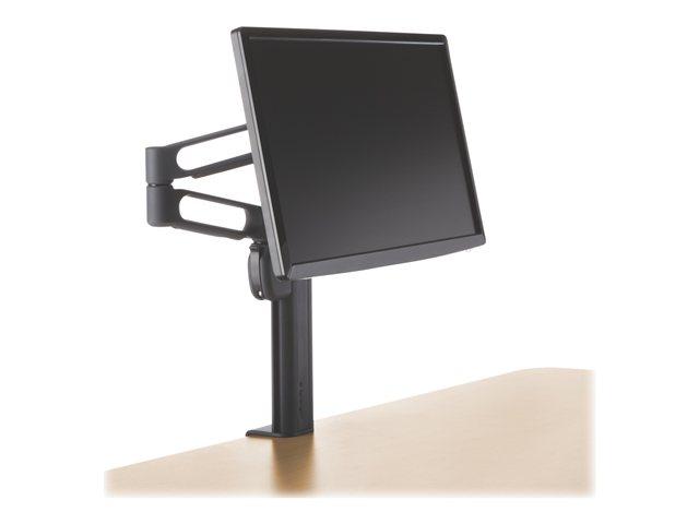 Braccio permonitor LCD fino a 24.Sistema di gestione cavo per ridurre lingombro.Altezza regolabile.Foro per cavo MicroSaver® di Kensington.SmartFitTM per identificare la corretta posizione da assumere.Peso sostenibile fino a 9 Kg. [ TT42184 ]