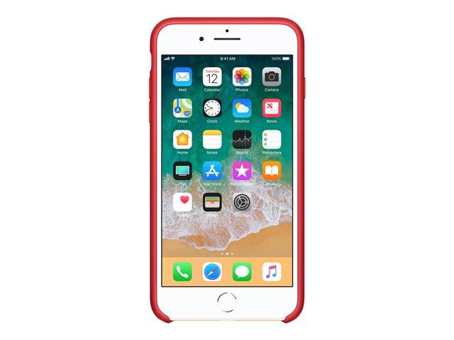 Apple (PRODUCT) RED – Copertina per cellulare – silicone – rosso – per iPhone 7 Plus, 8 Plus [ TT552971 ]