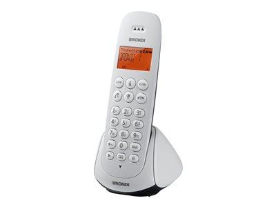 Brondi Adara – Telefono cordless con ID chiamante – ECO DECT – bianco, blu [ TT418739 ]
