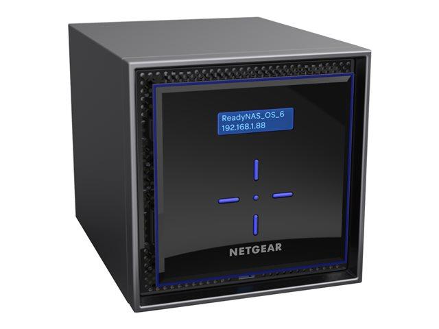 NETGEAR ReadyNAS 424 – Server NAS – 4 alloggiamenti – RAID 0, 1, 5, 6, 10, JBOD – Gigabit Ethernet – iSCSI [ TT201016 ]