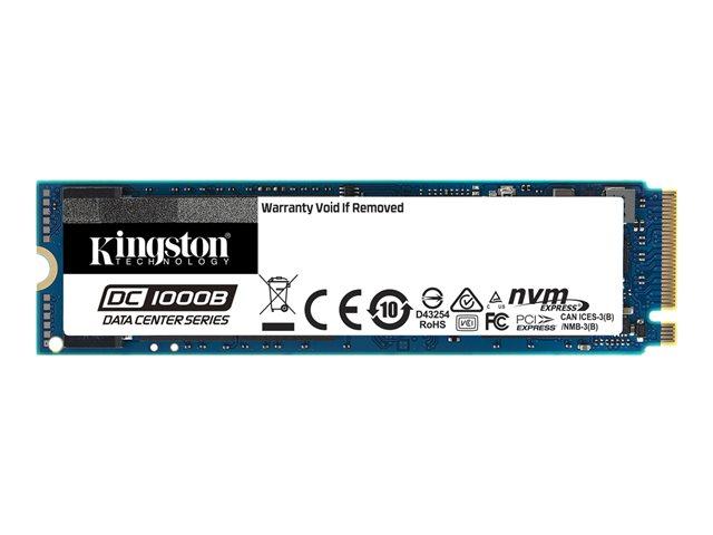 Kingston Data Center DC1000B – SSD – crittografato – 480 GB – interno – M.2 2280 – PCI Express 3.0 x4 (NVMe) – 256 bit AES – Self-Encrypting Drive (SED) [ TT801639 ]