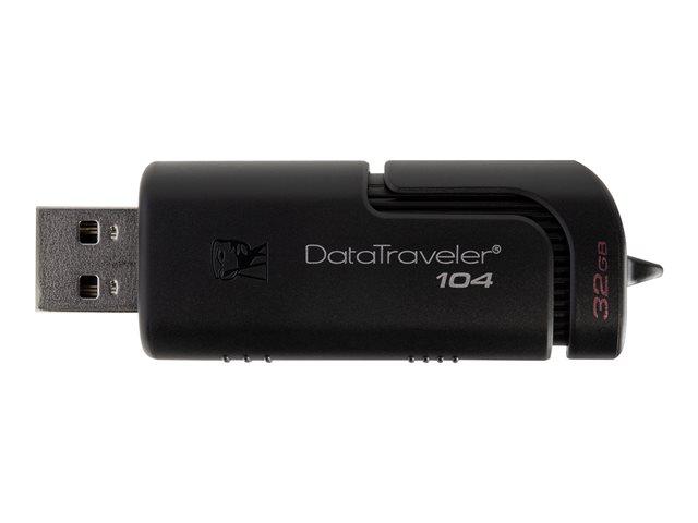 Kingston DataTraveler 104 – Chiavetta USB – 32 GB – USB 2.0 – nero [ TT798080 ]