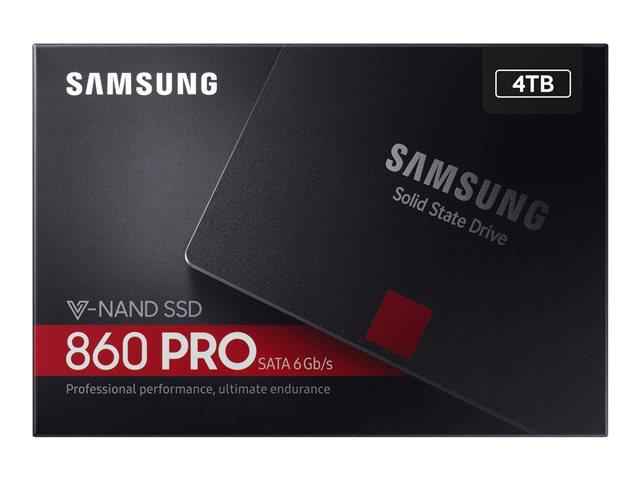 Samsung 860 PRO MZ-76P4T0B – SSD – crittografato – 4 TB – interno – 2.5″ – SATA 6Gb/s – buffer: 4 GB – 256 bit AES – TCG Opal Encryption [ TT719234 ]