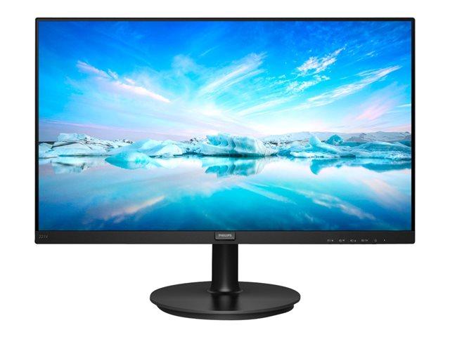 Philips V-line 221V8A – Monitor a LED – 22″ (21.5″ visualizzabile) – 1920 x 1080 Full HD (1080p) – VA – 200 cd/m² – 4000:1 – 4 ms – HDMI, VGA – altoparlanti – nero testurizzato [ TT795920 ]