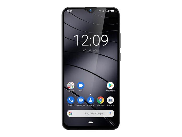 Gigaset GS290 – Smartphone – dual SIM – 4G LTE – 64 GB – microSD slot, – microSDXC slot – GSM – 6.3″ – 2340 x 1080 pixel (409 ppi) – IPS – RAM 4 GB – 16 MP (fotocamera anteriore 16 MP) – Android – grigio [ TT801226 ]