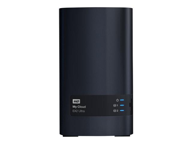 WD My Cloud EX2 Ultra WDBVBZ0060JCH – Dispositivo di storage personal cloud – 2 alloggiamenti – 6 TB – HDD 3 TB x 2 – RAID 0, 1, JBOD – RAM 1 GB – Gigabit Ethernet – iSCSI [ TT548207 ]