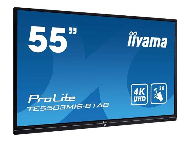 iiyama ProLite TE5503MIS-B1AG – 55″ Classe (54.6″ visualizzabile) display LED – segnaletica digitale interattiva – con schermo tattile – 4K UHD (2160p) 3840 x 2160 – nero [ TT800777 ]