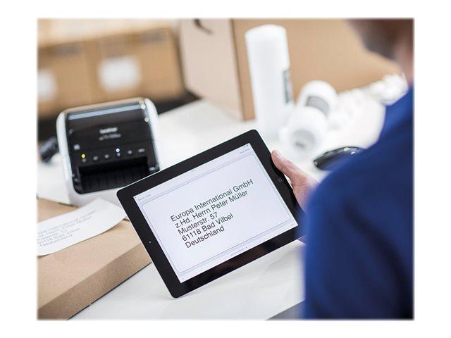Brother QL-1110NWB – Stampante per etichette – carta termica – Rotolo (10,36 cm) – 300 x 300 dpi – fino a 110 mm/sec – USB 2.0, LAN, Wi-Fi(n), Bluetooth 2.1 EDR [ TT717822 ]