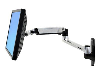 Braccio LX per parete (silver e nero) per LCD inferiori ai 24″. Solleva (fino a 13″ – 33cm), inclina (fino a 80°), ruota sx/dx a 360°), ruota P/L 360° [ TT45055 ]