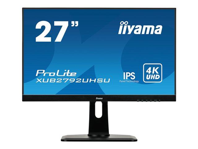 iiyama ProLite – Monitor a LED – 27″ (26.9″ visualizzabile) – 3840 x 2160 4K – IPS – 300 cd/m² – 1000:1 – 4 ms – HDMI, DVI, DisplayPort – altoparlanti – nero [ TT800704 ]