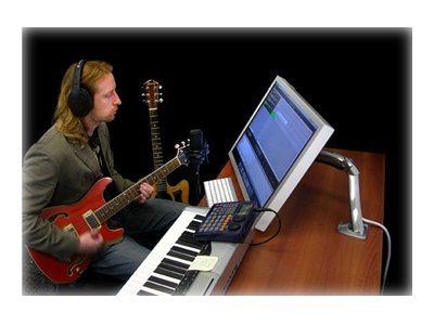Braccio MX Desk Mount LCD per montaggio da tavolo (silver) di PC all-in-one o LCD inferiori ai 30″. Solleva (fino a 5″- 13cm), inclina (fino a 75°), ruota sx/dx (fino a 180°), ruota P/L (fino a 90°), portata 6.3-13.6Kg [ TT42607 ]