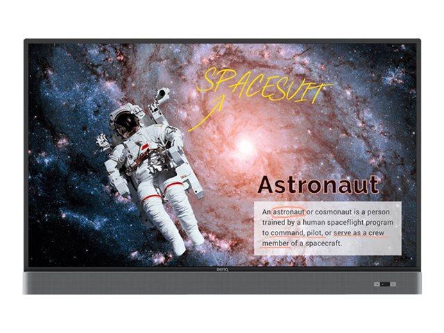 BenQ RM5502K – 55″ Classe display LED – interattiva – con lavagna interattiva integrata, touchscreen (multi touch) – 4K UHD (2160p) 3840 x 2160 – LED a illuminazione diretta – nero, metallo [ TT800769 ]