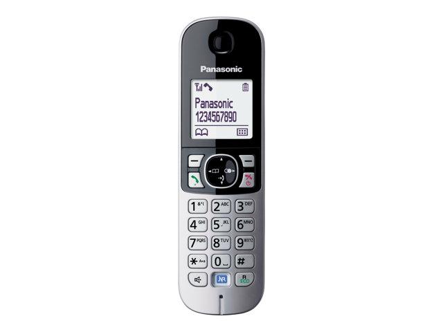 Panasonic KX-TG6811 – Telefono cordless con ID chiamante – DECTGAP – argento [ TT227163 ]