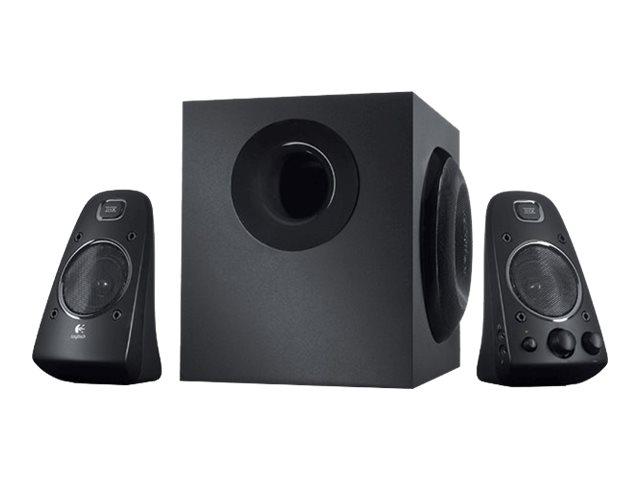 Logitech Casse Speaker System Z623 – Casse Audio Colore Nero – Potenza Suono da 200W RMS – Due ingressi da 3,5 mm – Due ingressi RCA – Uscita per cuffie – Controlli Integrati per accensione, volume e bassi – anche per Playstation 2/3, Xbox 360 e Wii [ TT45745 ]