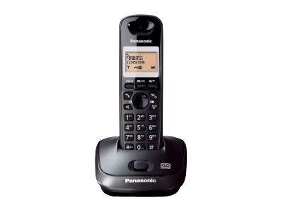 Panasonic KX-TG2521 – Telefono cordless – sistema di segreteria con ID chiamante – DECTGAP – nero titanio [ TT227161 ]