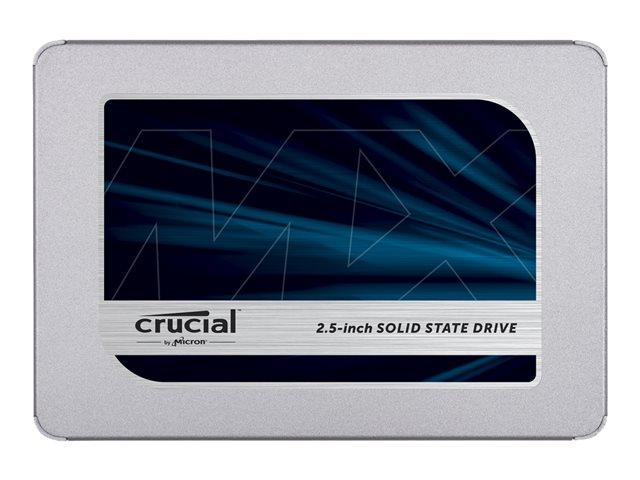 Crucial MX500 – SSD – crittografato – 1 TB – interno – 2.5″ – SATA 6Gb/s – 256 bit AES – TCG Opal Encryption 2.0 [ TT801723 ]