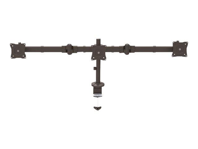 StarTech.com Braccio Articolato per Triplo Monitor fino a 24″ – Braccio regolabile in altezza 3 monitor – Accaio – Braccio regolabile per 3 monitor – acciaio resistente – dimensione schermo: 13″-24″ [ TT711798 ]