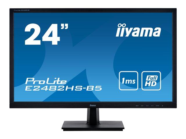 iiyama ProLite E2482HS-B5 – Monitor a LED – 24″ (24″ visualizzabile) – 1920 x 1080 Full HD (1080p) – TN – 250 cd/m² – 1000:1 – 1 ms – HDMI, DVI, VGA – altoparlanti – nero opaco [ TT800727 ]
