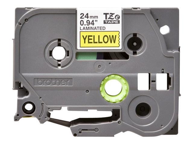 Brother TZe651 – Nastro laminato – nero su giallo – Rotolo (2,4 cm x 8 m) 1 rotoli – per P-Touch PT-1010, 3600, D600, E500, H100, H101, H500, P700, P750, P-Touch EDGE PT-P750 [ TT136571 ]