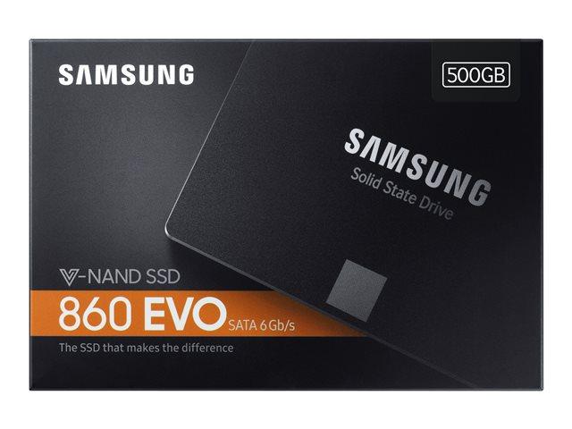 Samsung 860 EVO MZ-76E500B – SSD – crittografato – 500 GB – interno – 2.5″ – SATA 6Gb/s – buffer: 512 MB – 256 bit AES – TCG Opal Encryption 2.0 [ TT690642 ]