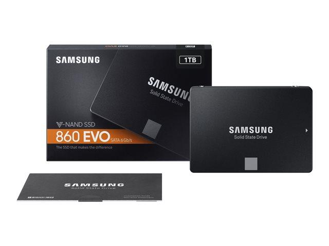 Samsung 860 EVO MZ-76E1T0B – SSD – crittografato – 1 TB – interno – 2.5″ – SATA 6Gb/s – buffer: 1 GB – 256 bit AES – TCG Opal Encryption 2.0 [ TT690643 ]