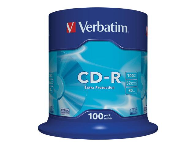Verbatim – 100 x CD-R – 700 MB (80min) 52x – mandrino [ TT117869 ]