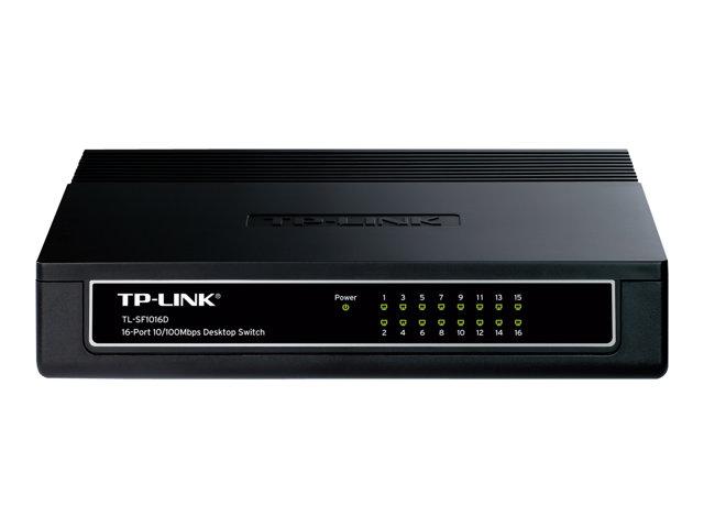 TP-LINK TL-SF1016D 16-Port 10/100Mbps Desktop Switch – Switch – 16 x 10/100 – desktop [ TT127861 ]