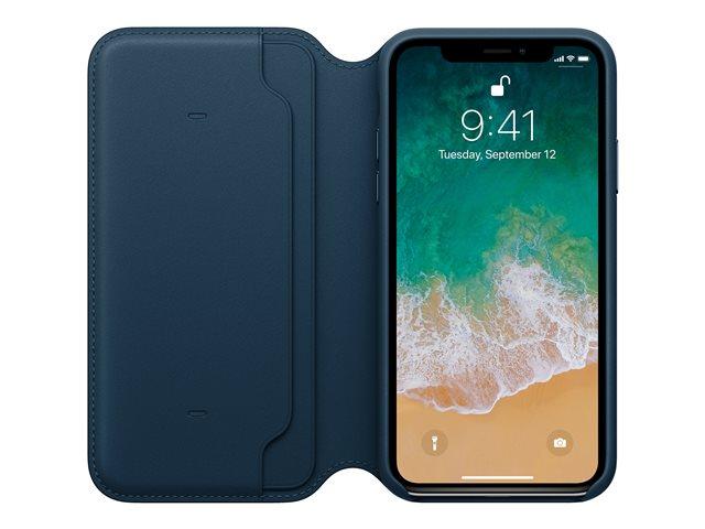 Apple – Flip cover per cellulare – pelle – cosmos blue – per iPhone X [ TT554279 ]