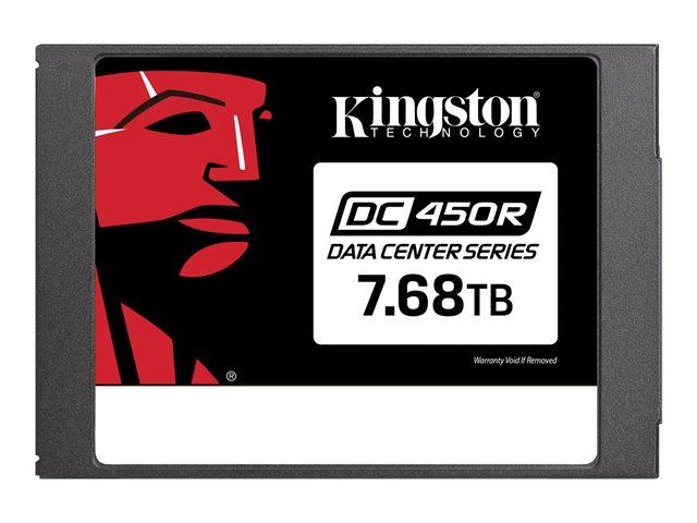 Kingston Data Center DC450R – SSD – crittografato – 7.68 TB – interno – 2.5″ – SATA 6Gb/s – 256-bit AES-XTS – Self-Encrypting Drive (SED) [ TT803277 ]