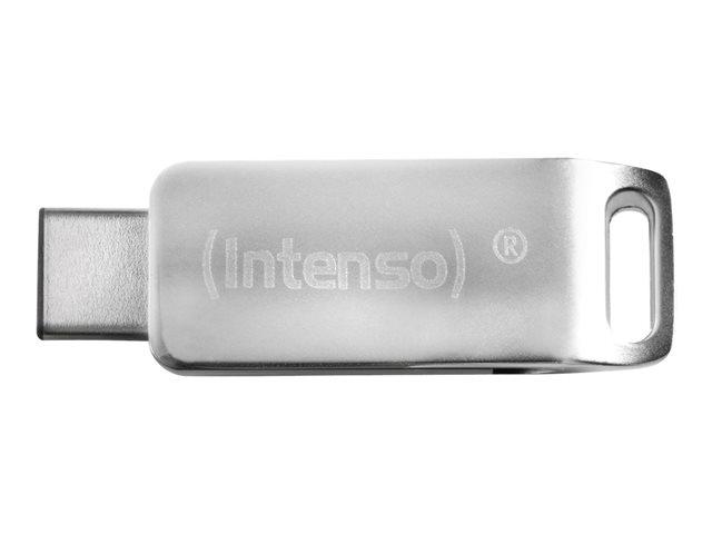 Intenso cMobile Line – Chiavetta USB – 64 GB – USB 3.0 / USB Tipo-C – argento [ TT722965 ]
