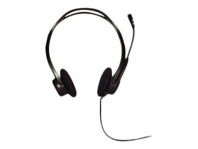 Logitech Cuffia OEM PC Headset 960 USB Colore Nero – Connessione USB – Stereo con Microfono – Controllo Volume – Funzione Mute Microfono – Microfono con Eliminazione del Rumore – Fascia per la testa estendibile 38 mm su ciascun lato – Braccio Microfo [ TT41911 ]