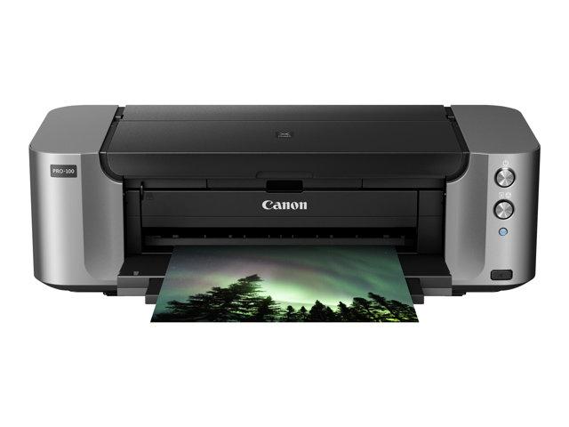 Canon PIXMA PRO-100S – Stampante – colore – ink-jet – A3 Plus, 360 x 430 mm fino a 1.5 min/pagina (colore) – capacità 150 fogli – USB 2.0, LAN, Wi-Fi(n) [ TT138781 ]