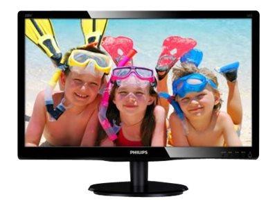 Philips V-line 200V4QSBR – Monitor a LED – 20″ – 1920 x 1080 – MVA – 250 cd/m2 – 3000:1 – 20 ms – DVI-D, VGA – nero con motivo lucido [ TT138731 ]