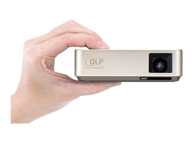 ASUS S1 Travel – Proiettore DLP – RGB LED – 200 lumen ANSI – WVGA (854 x 480) – 16:9 – obiettivi fissi a focale ultra corta [ TT795911 ]