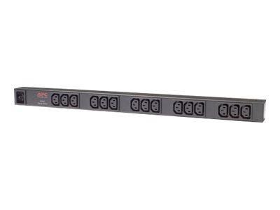 APC Basic Rack PDU Zero U – Unità distribuzione alimentazione (montabile in rack) – 120/208/230 V c.a. V – ingresso: IEC 60320 C20 – connettori di uscita 15 (IEC 60320 C13) – 0U – 2.5 m – nero – per P/N: AR3100, AR3150, SMX3000RMHV2UNC, SUA2200RMXLI3U, SUA3000R2IX322, SURT3000XLI/S [ TT39749 ]