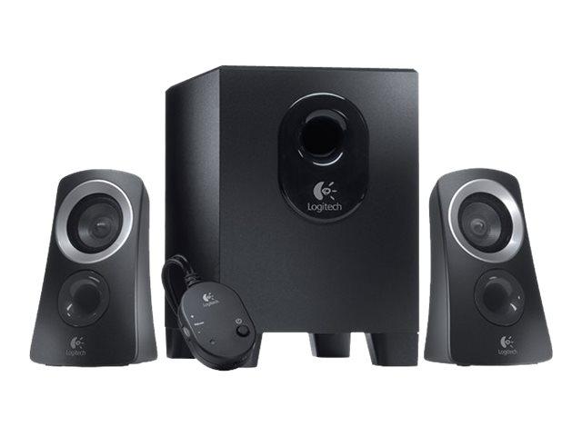 Logitech Casse Speaker System Z313 Colore Nero – Potenza 25W (RMS) – Potenza di picco: 50 W – Risposta in frequenza: 48 Hz-20 kHz (+/- 3 dB) – Dimensioni (L x P x H) Subwoofer: 22 cm x 15 cm x 22,8 cm Satelliti: 8,1 cm x 8,9 cm x 14,6 cm [ TT45520 ]