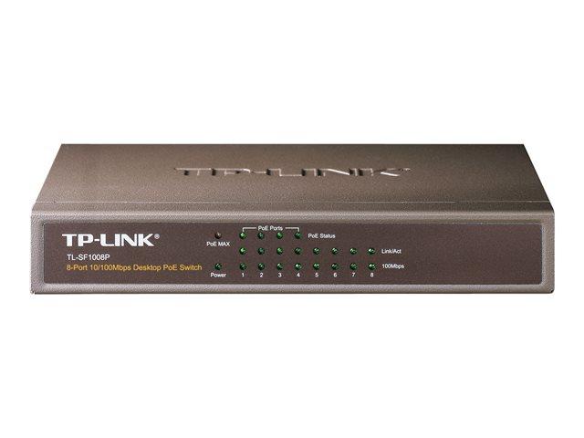 TP-LINK TL-SF1008P – Switch – 4 x 10/100 (PoE) + 4 x 10/100 – desktop – PoE [ TT127823 ]