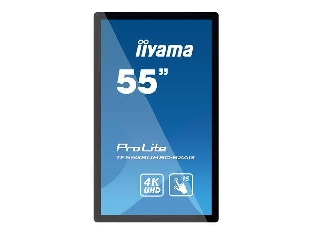 iiyama ProLite TF5538UHSC-B2AG – 55″ Classe (55″ visualizzabile) display LED – segnaletica digitale interattiva – con touch screen (multi touch) – 4K UHD (2160p) 3840 x 2160 – nero opaco [ TT800778 ]