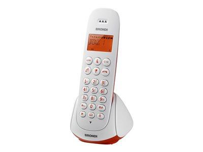 Brondi Adara – Telefono cordless con ID chiamante – ECO DECT – bianco, rosso [ TT418741 ]