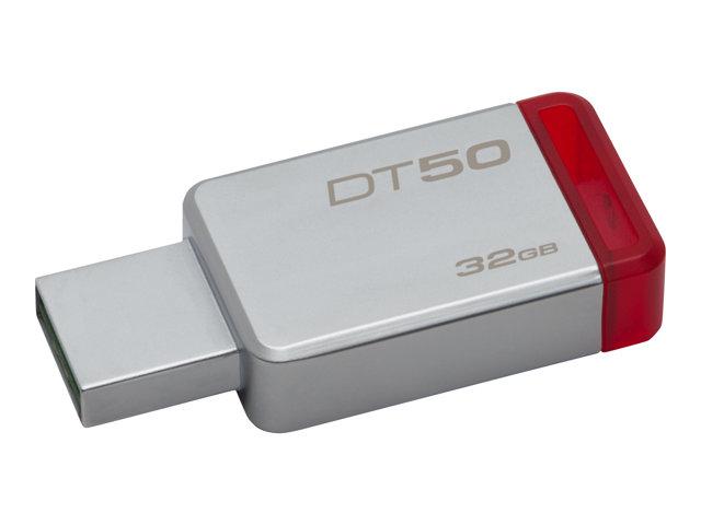 32GB USB 3.1 DataTraveler 50 Metal/Red [ TT153114 ]