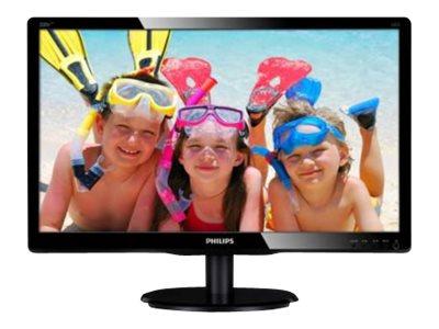 Philips V-line 200V4LAB2 – Monitor a LED – 20″ – 1600 x 900 – 200 cd/m2 – 600:1 – 5 ms – DVI-D, VGA – altoparlanti – nero testurizzato, nero lucido [ TT148735 ]