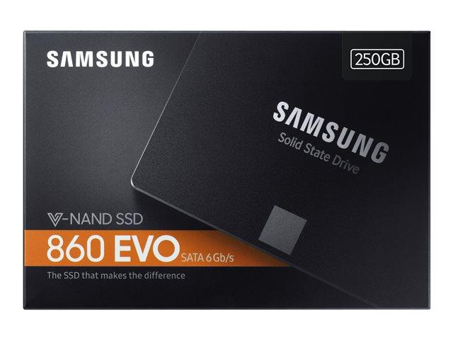 Samsung 860 EVO MZ-76E250B – SSD – crittografato – 250 GB – interno – 2.5″ – SATA 6Gb/s – buffer: 512 MB – 256 bit AES – TCG Opal Encryption 2.0 [ TT690641 ]